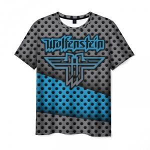 Merchandise Men'S T-Shirt Wolfenstein Graphic Design Text