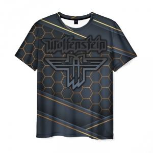 Merchandise Men'S T-Shirt Wolfenstein Picture Text Design
