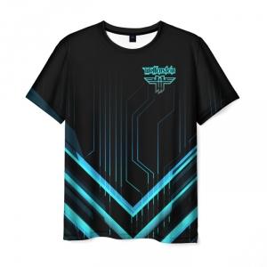 Merchandise Men'S T-Shirt Wolfenstein Black Text Apparel