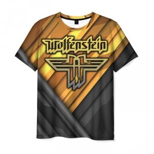 Merchandise Men'S T-Shirt Wolfenstein Apparel Text Print