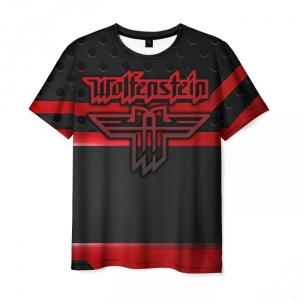 Merchandise Men'S T-Shirt Wolfenstein Emblem Sign Picture