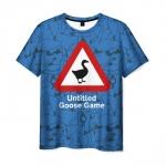 Merchandise Men'S T-Shirt Untitled Goose Game Print Blue