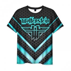 Merchandise Men'S T-Shirt Wolfenstein Print Title Emblem