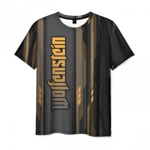 Merchandise Men'S T-Shirt Wolfenstein Design Image Merch