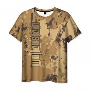 Merchandise Men'S T-Shirt Wolfenstein Title Print Game