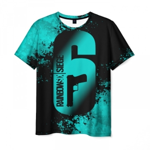 Merch Men'S T-Shirt Image Print Text Rainbow Six Siege