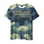 Collectibles Men'S T-Shirt Wolfenstein Emblem Title Print