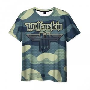 Merchandise Men'S T-Shirt Wolfenstein Emblem Title Print