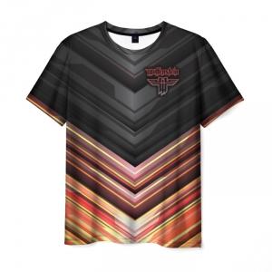 Merchandise Men'S T-Shirt Outline Design Wolfenstein Print