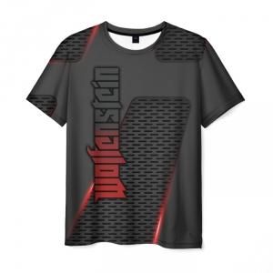 Merchandise Men'S T-Shirt Text Print Design Wolfenstein