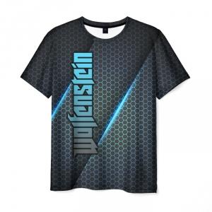 Merchandise Men'S T-Shirt Wolfenstein Game Merch Print