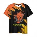 Merch Men'S T-Shirt Samurai Cyberpunk Design Merch