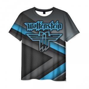 Merchandise Men'S T-Shirt Wolfenstein Emblem Print Merchandise