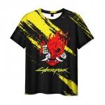 Merchandise Men'S T-Shirt Cyberpunk Muzzle Black Print