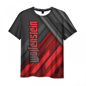 Merchandise Men'S T-Shirt Merch Text Black Wolfenstein
