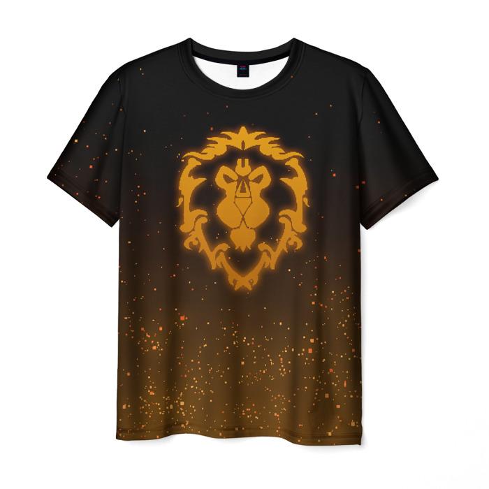 Collectibles Men'S T-Shirt Emblem Game World Of Warcraft Black