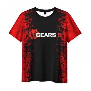 Merchandise Men'S T-Shirt Black Gears Of War Text Emblem Print