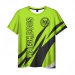 Merch Men'S T-Shirt Watch Dogs Green Image Print