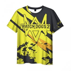 Collectibles Men'S T-Shirt Watch Dogs Game Print Design