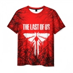 Collectibles Men'S T-Shirt Red Title Emblem The Last Of Us Merch