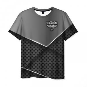 Merchandise Men'S T-Shirt Wolfenstein Gray Outline Image
