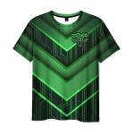Collectibles Men'S T-Shirt Wolfenstein Green Outline Print