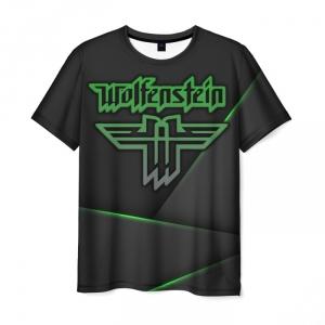 Merchandise Men'S T-Shirt Wolfenstein Sign Emblem Black