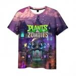 Merch Men'S T-Shirt Design Plants Vs Zombies Footage Print