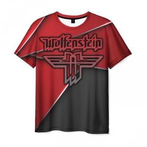 Merchandise Men'S T-Shirt Emblem Wolfenstein Title Print