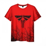 Collectibles Men'S T-Shirt Red Emblem Title The Last Of Us