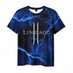 Merchandise Men'S T-Shirt Lineage Black Lighting Print