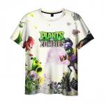 Merchandise Men'S T-Shirt White Emblem Plants Vs Zombies Text