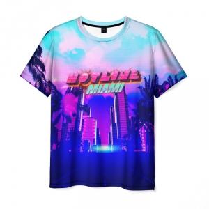 Collectibles Men'S T-Shirt Landscape Print Hotline Miami Merch