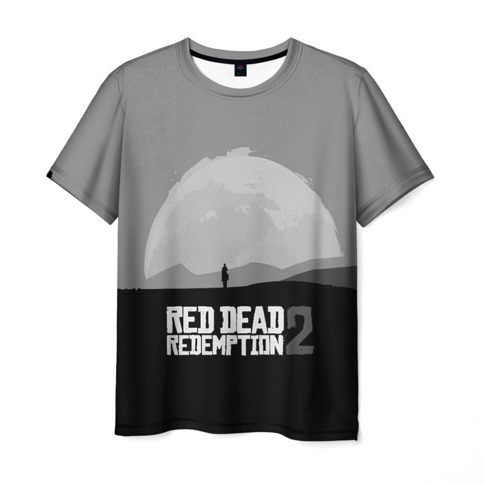 Merch Men'S T-Shirt Print Gray Sunset Red Dead Redemption
