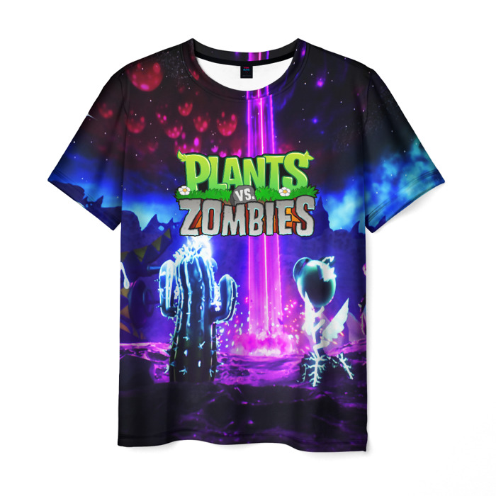 Merchandise Men'S T-Shirt Gme Merch Plants Vs Zombies Scene Design