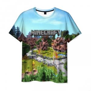 Collectibles Men'S T-Shirt Landscape Scene Print Minecraft