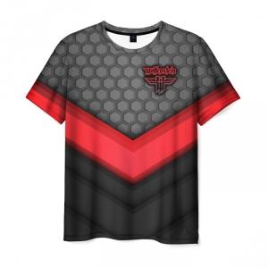 Merchandise Men'S T-Shirt Wolfenstein Gray Title Game Image