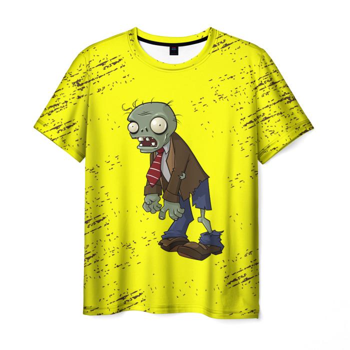 Merchandise Men'S T-Shirt Game Plants Vs Zombies Yellow Print