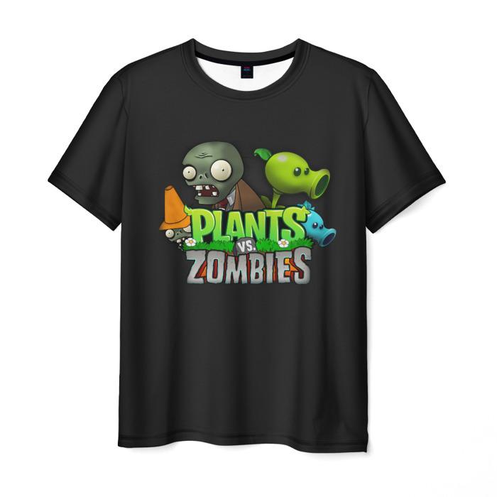 Collectibles Men'S T-Shirt Merch Plants Vs Zombies Black Print