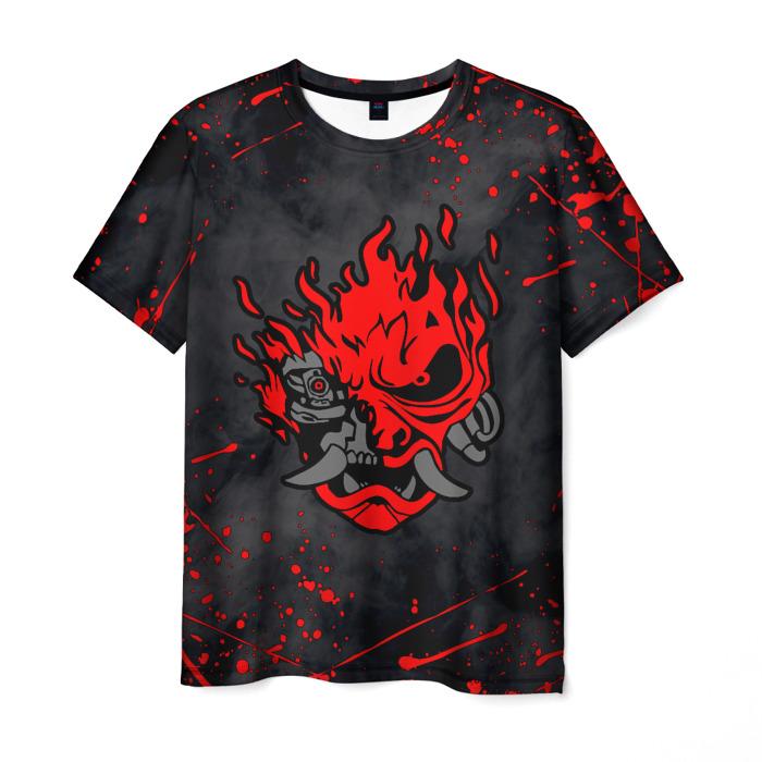 Merchandise Men'S T-Shirt Design Samurai Cyberpunk Print