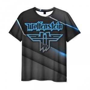 Merchandise Men'S T-Shirt Wolfenstein Emblem Black Print