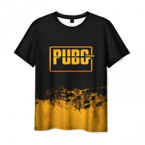 Merch Men'S T-Shirt Pubg Black Text Merchandise Print