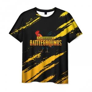 Merch Men'S T-Shirt Playerunknown'S Battlegrounds Black Print