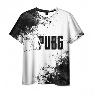Merch Men'S T-Shirt Pubg White Text Game Print