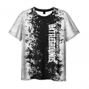 Merch Men'S T-Shirt Text Print Battlegrounds White