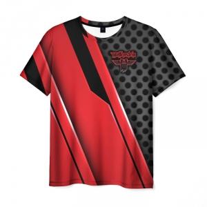 Merchandise Men'S T-Shirt Wolfenstein Design Print Title