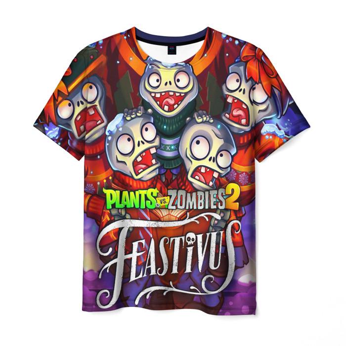Merch Men'S T-Shirt Hero Faces Print Plants Vs Zombies