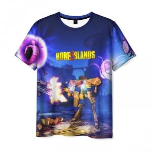 Merch Men'S T-Shirt Footage Print Borderlands Merch