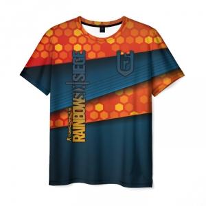 Merch Men'S T-Shirt Title Print Merch Rainbow Six Siege