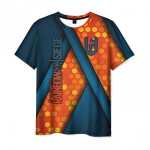 Merch Men'S T-Shirt Rainbow Six Siege Emblem Text